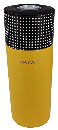 AMANCY Cool Cedar Wood Lined Portable Travel 5 Cigar Humidor with Humidifier by AMANCY