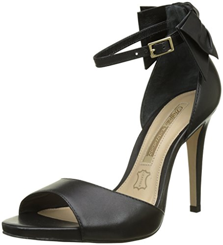 Buffalo London Women's Zs 7679-16 Semi Cromo Open Toe Sandals Black (Black 01) pNXCD0