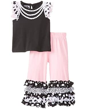 Baby Girls' Ruffled Tee and Pant Set