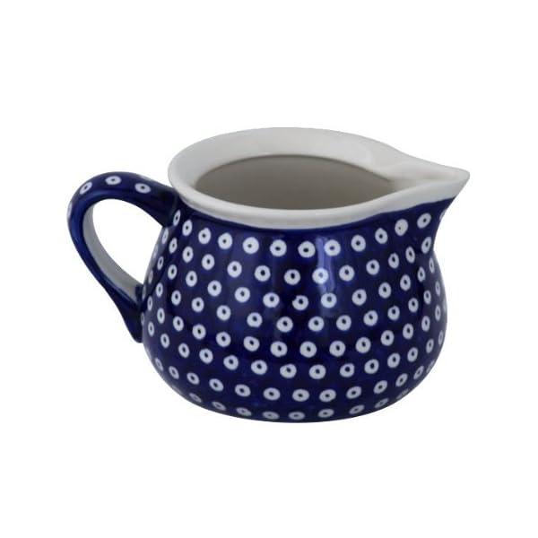 Boleslawiec Pottery Milk jug, 1.0 L, Original Bunzlauer Keramik, Decor 42