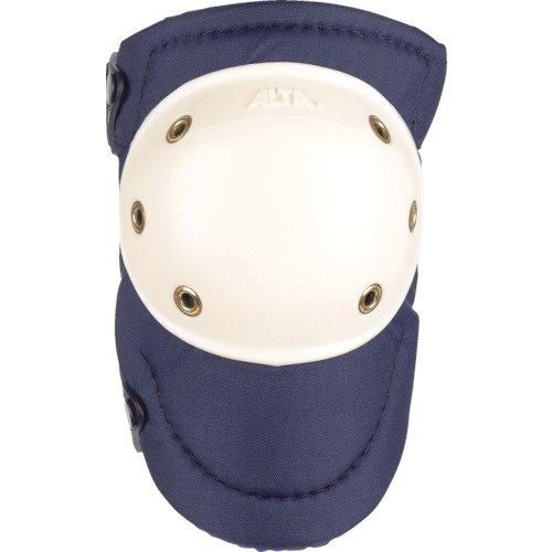 ALTA 50903 AltaPRO Knee Protector Pads, Navy Cordura Nylon Fabric, AltaLOK Fastening, Hard Cap, Round, White (One Pair)