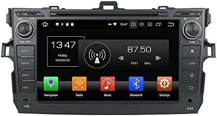 KUNFINE Android 9.0 8核自動車GPSナビゲーション マルチメディアプレーヤー 自動車音響 トヨタ TOYOTA COROLLA 2006 2007 2008 2009 2010 2011 自動車ラジオハンドル制御WiFiブルースティスト