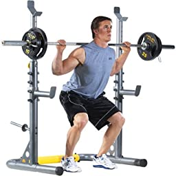 Adjustable Olympic Weight Bench Combo Strength Exercise Fitness Training Home Health Free 44 lbs Bar