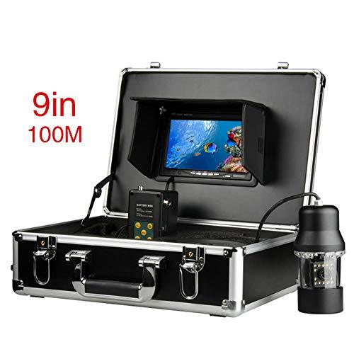 JINPENGRAN Underwater Fish Finder HD Underwater Camera 9 inch LCD Monitor IP68 Waterproof (100m)
