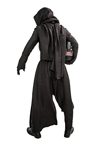 Xcoser Halloween Kylo Ren Hooded Robe & Under Tunic & Gloves & Scarf & Belt Outfit Costume L Black - http://coolthings.us