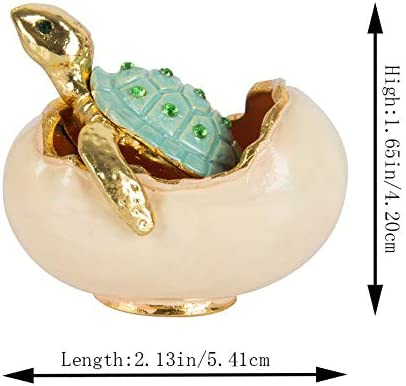 QIFU peinte /à la main Tortue de mer Tortue d/écoratifs /à charni/ère Bijoux Bo/îte /à bijoux Cadeau unique pour la d/écoration de la maison