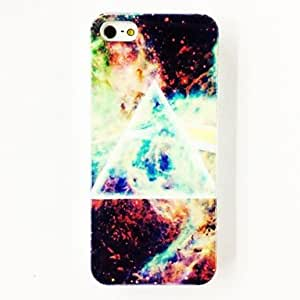 YXF Punk Triangle Star Sky Pattern TPU Soft Case for iPhone 4/4S , Multicolor