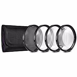 72mm 2x Telephoto Lens with pouch + 72mm Wide Angle Lens + 72mm 3 Piece Filter Set (UV, CPL, FL) + LENS CAP 72MM + 72mm Lens Hood + Cleaning Cloth Bundle