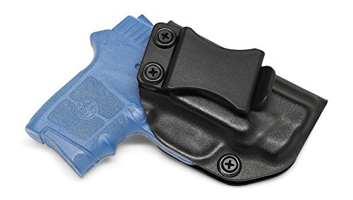 Concealment Express IWB KYDEX Holster: fits Smith & Wesson Bodyguard 380 (w/or w/o Intgrtd LSR) - Custom Fit - US Made - Inside Waistband - Adj. Cant/Retention (BLK, Right)