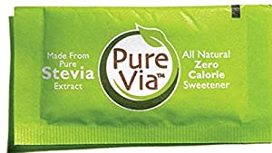 Purevia All Natural Zero Calorie Sweetener - 300 Packets