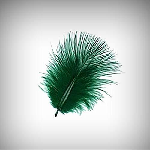 1 Packet of 1 Bag 1/4 Oz /8 G/ 100 Dark Emerald Green Turkey Marabou Crafting Feathers 1-3