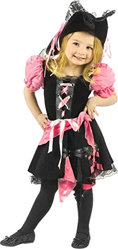 Fun World Toddler Girls' Pink Punk Pirate, Multi, (Pink Punk Pirate)