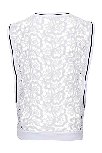 Frogbox Top LACE SPECIAL FORM Blanco