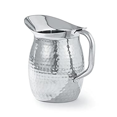 Artisan Stainless Steel Bell Pitcher Hammered Texture - 2 Qt.
