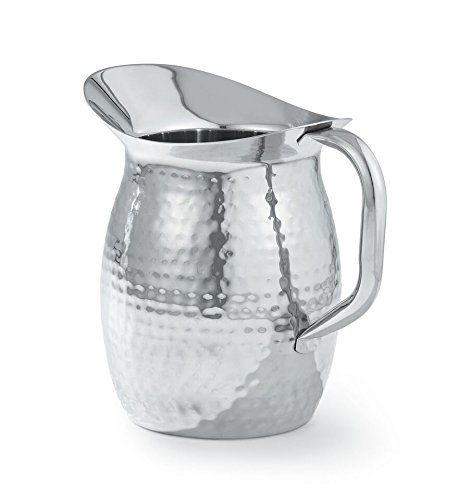 (Artisan 2-Quart Stainless Steel Serving Pitcher with Hammered Texture)