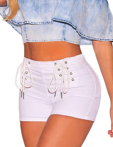 Pantalon Couleur White Unie pour Chic YFLTZ Femme Jeans Street YwdTqgd