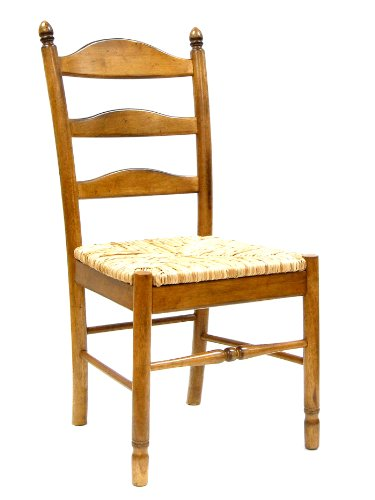 a Chair, English Pine (Ladder Back Desk Chair)