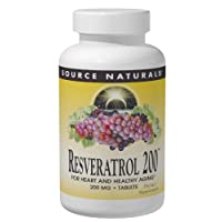 Source Naturals Resveratrol 200 mg for Heart and Healthy Aging - 120 Tablets