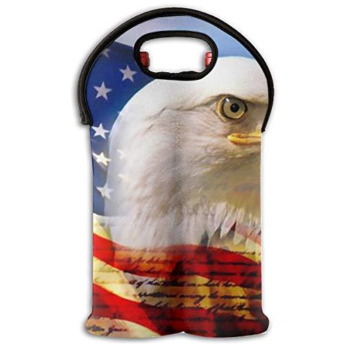 (Red Wine Sets,US Virgin Islands Badge Flag Tote Bag Traveling Wine/Water Bottle Handbag With Carry Handle Two Bottle Drinks Beer Holder)
