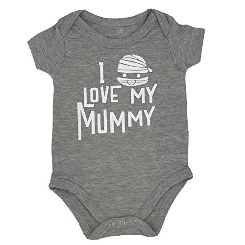 Unique Baby Unisex Funny 1st Halloween Onesie My Mummy Loves Me Layette Outfit (9m) - Unisex Mummy