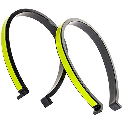 Clip Bicycle - Joinwin New High Vis Reflective Trouser Pant Clips,Pant Leg Cuff Clips Bike Bicycle- 2 Pack (Yellow) JIW026