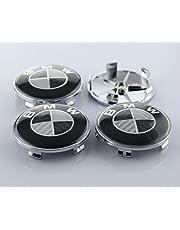 New 4pcs Carbon Fiber 68mm Hub Center Caps Wheel Emblem Logo Badge FOR BMW