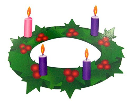 (Advent Wreath with Pink and Purple Candles Flexible Magnet Set, 7)