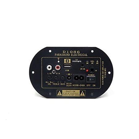 Amazon.com: eDealMax coche DC12V / 24V 30W AC100-240V MP3 USB TF Amplificador de Potencia de Audio Junta de Ajuste Para 6 8 16 pulgadas: Car Electronics