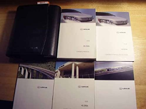 2010 lexus hs 250h owners manual lexus amazon com books rh amazon com 2010 Lexus 250H Headlight 2010 Lexus 250H Headlight