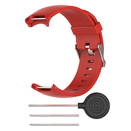 RuenTech Replacement Watch Bands for Approach S3, Silicone Band/Strap/Wristband for Garmin Approach S3 GPS Golf Watch. (Red)