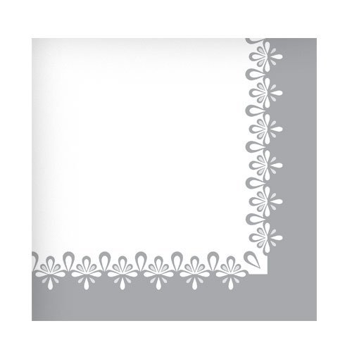 Hanna K. Signature Collection 75 Count Precious Paper Beverage Napkin, Silver by Hanna K. Signature Collection