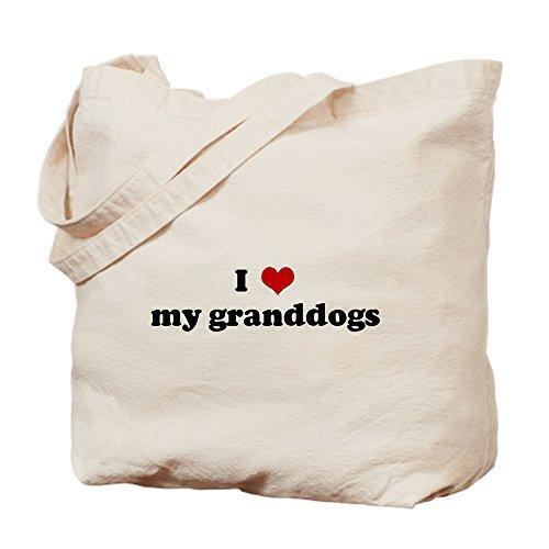 CafePress–I Love My Granddogs–Gamuza de bolsa de lona bolsa, bolsa de la compra Small caqui