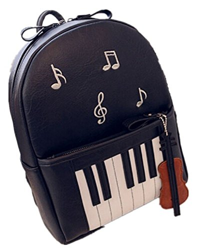 YOYOSHome® Cute Piano Musical Notes Print School Bag Back...
