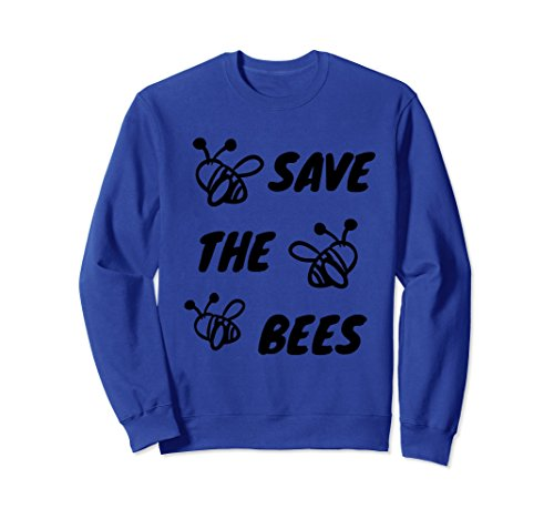 Unisex Save The Bees Sweatshirt XL: Royal - The How Population Bee To Save