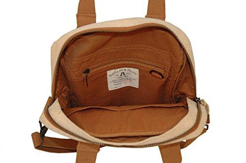 Whillas&Gunn Schultertasche, Umhängetasche im Hochformat in beige mit abnehmbaren Schultergurt und Reißverschluss. Beige
