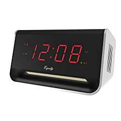 Equity by La Crosse 75910 LED Alarm with Bluetooth and USB Port, 0.9-Inch, Red