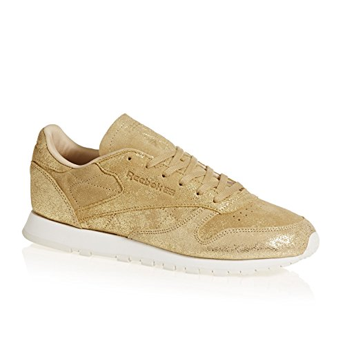 Reebok Damen Classic Leather Shimmer Sneaker Gold