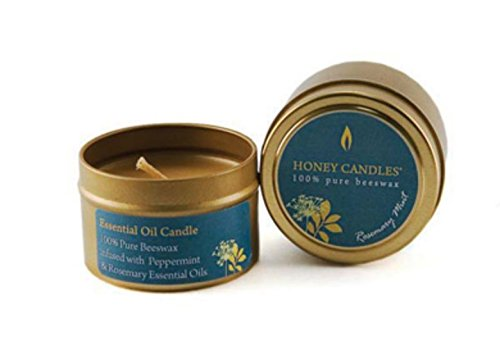 - Honey Candles Essentials Tin Rosemary Mint