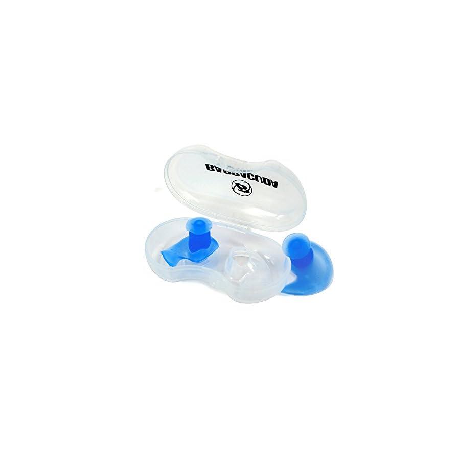 Barracuda Accessories – EAR PLUGS (L/S) with Storage Case, Ergonomic shape Chlorine proof Waterproof Silicone, Soft Flexible Comfortable Reusable Unisex for Adults Men Women Children