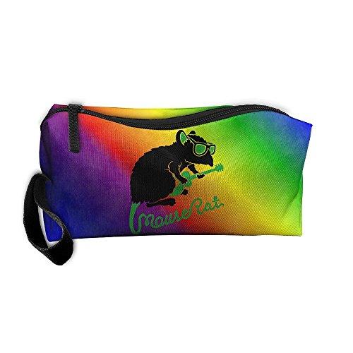 Mouse Rat Art Portable Zipper Storage Bag Oxford Cloth Kit Organizer For Sewing Medicine Comestic Fashion Pencil Pen Case