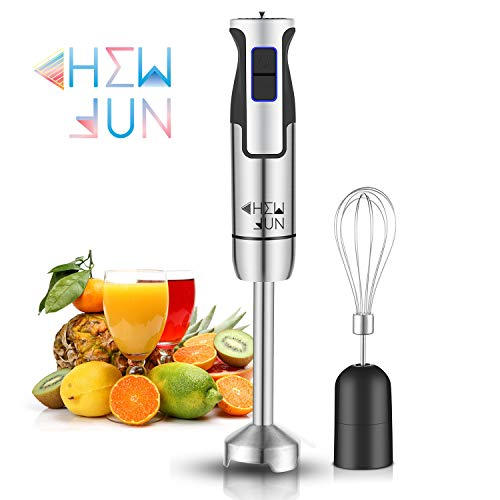 CHEW FUN Multipurpose Immersion Hand Blender Poweful 500 Watt,9-Speed,High Power Low Noise,2-in-1 includes Detachable Chopper and Egg Whisk with lifetime warranty guaranteed