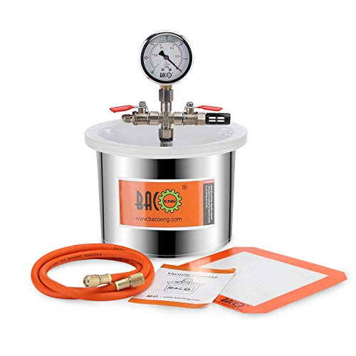 BACOENG 1.5 Gallon Stainless Steel Vacuum Chamber Silicone for sale  Delivered anywhere in USA