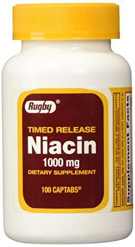 Rugby Niacin Timed Release 1000mg Tablets - 3 Pack (3)