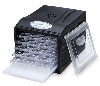 Samson ''Silent'' Dehydrator 6-Tray with Digital Controls PLUS 6 Non-Stick Sheets