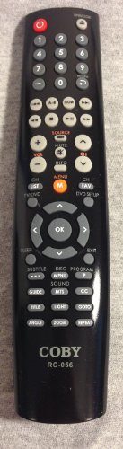 COBY Remote Control for LCDVD2250, RC056, TFDVD1595, TFDVD15