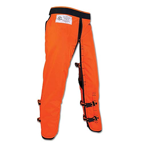 Arborwear Men's RAC Chainsaw Chaps - Calf Wrap, Safety Orange, Regular