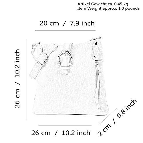 Made Italy - Bolso cruzados para mujer gris seda