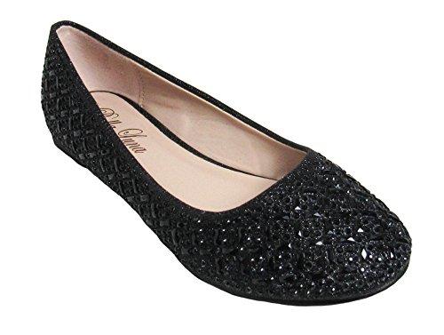 Luna 7 US Bella Black 02 Merina footwear Womens D M fFwxdvA
