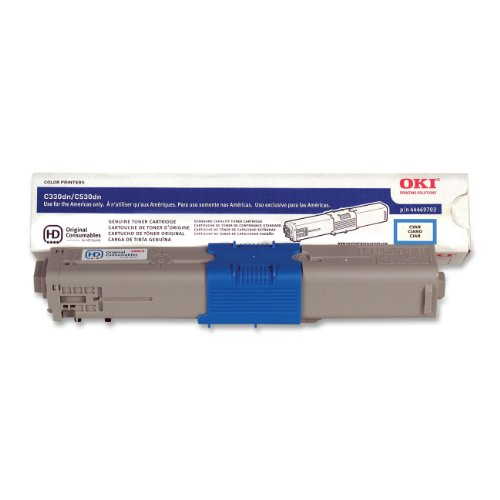 Oki Data 44469703 C330/530/MC361/MC561 Toner Cartridge, Type C17 (3k), Cyan (Cartridges Oki Printer Laser)