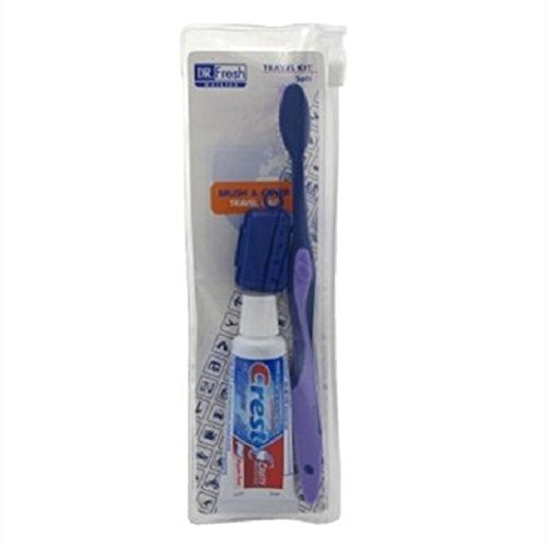 Price comparison product image Dr. Fresh Travel Kit Crest/ Colgate Toothpaste-Brush-Cover (2 Pack)